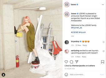 HyunA trở thành đại sứ toàn cầu của LOEWE