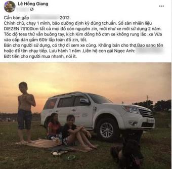 Nghệ sĩ Giang Còi lộ ảnh gầy gò, rao bán xe ô tô lấy tiền chữa bệnh ung thư