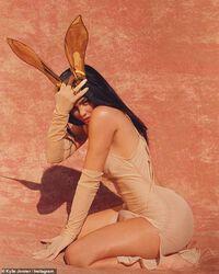 Kylie Jenner thu hút sự chú ý với đồ bơi màu da đi tắm nắng