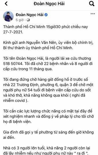TP.HCM: Quận 3 phản bác thông tin ông Đoàn Ngọc Hải phản ánh trên Facebook