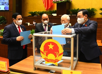 Quốc hội phê chuẩn việc bổ nhiệm Phó Thủ tướng, Bộ trưởng nhiệm kỳ 2021-2026