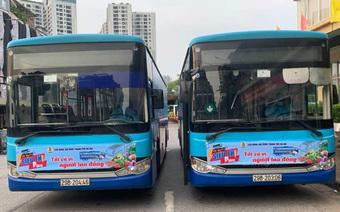 """Hà Nội triển khai """"xe bus siêu thị 0 đồng"""" vận chuyển hàng hóa thiết yếu"""