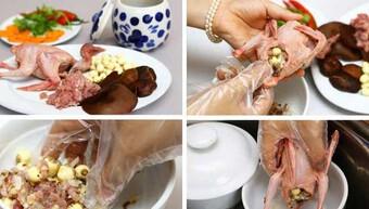 Hướng dẫn cách nấu chim bồ câu hầm hạt sen