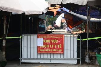 Hà Nội: Phong tỏa, dừng hoạt động chợ đầu mối phía Nam