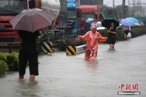 Bão ''Pháo hoa'' đổ bộ lần hai, nhiều nơi ở Trung Quốc lụt nặng