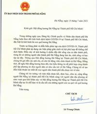 Chủ tịch Đà Nẵng gửi thư cho Hội đồng hương tại TP.HCM, lên phương án đưa dân về