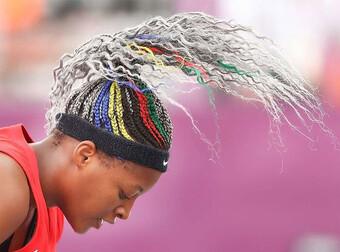 Những mái tóc độc đáo khiến khán giả tròn mắt tại Olympic Tokyo
