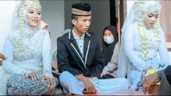 Chú rể 20 tuổi kết hôn với 2 người cùng một lúc, thân phận của các cô dâu gây thêm chú ý