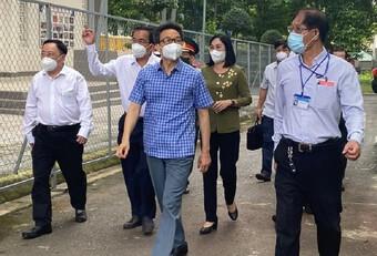 Phó Thủ tướng Vũ Đức Đam đến thị sát công tác cách ly, điều trị bệnh nhân mắc Covid-19 tại Đồng Nai