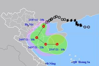 Áp thấp nhiệt đới vào Vịnh Bắc Bộ, gây mưa rất lớn ở nhiều tỉnh phía Bắc