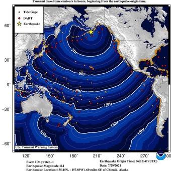 Cảnh báo sóng thần khắp Thái Bình Dương sau động đất rung chuyển Alaska