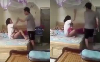 SỐC: Mặc kệ vợ bế con nhỏ đang khóc thét, chồng lao vào đánh tới tấp vì ngủ đến 8 giờ sáng mới dậy!