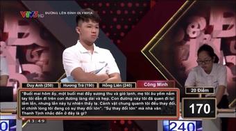 """Nam sinh Quảng Ngãi """"lội ngược dòng"""" khó tin, vô địch thi tháng Olympia"""