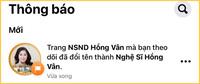 NSND Hồng Vân chính thức lên tiếng về việc bỏ danh hiệu ra khỏi tên fanpage