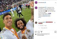 Varane lên đường đến Manchester, được Ramos & Marcelo chúc mừng sang MU