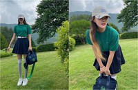 Gu thời trang của golf thủ Hyomin ''đốn tim'' người hâm mộ