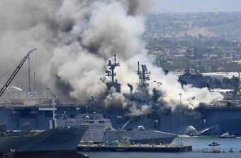 Một thủy thủ Mỹ bị buộc tội trong vụ cháy tàu chiến gây thiệt hại cả tỷ đô