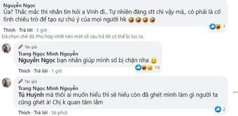 Lương Minh Trang cãi tay đôi với antifan khi liên tục bị công kích