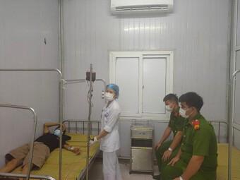 Bốn chiến sỹ Công an hiến máu cấp cứu đối tượng phạm tội ma túy