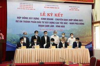 Ký hợp đồng BOT đầu tư cao tốc Cam Lâm-Vĩnh Hảo gần 9.000 tỷ đồng