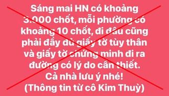 Hà Nội: Tung hoang tin về 3.000 chốt kiểm dịch, 1 cá nhân bị xử lý