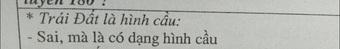 """Học trò ghi: """"Trái Đất là hình cầu"""", cô giáo liền chỉnh ngay 1 dòng khiến học trò đơ người, đúng là quá cao tay!"""