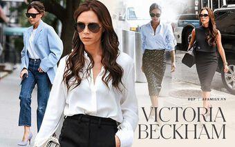 Học Victoria Beckham mix đồ công sở đơn giản nhưng đẳng cấp