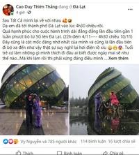 Chàng trai 9X và hành trình đi bộ từ TP.HCM đến Đà Lạt gây ''bão mạng''