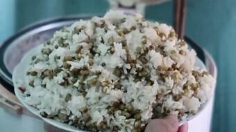 Cách nấu xôi đậu xanh nước cốt dừa bằng nồi cơm điện ngay tại nhà