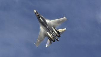 Máy bay chiến đấu Su-35 Nga lao xuống biển