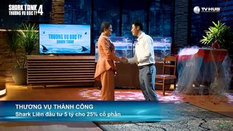 """Thấy Shark Linh say sưa ăn mực do startup chiêu đãi, dàn """"cá mập"""" liền có hành động khiến cô ngại ngùng"""