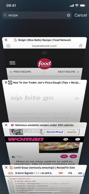 Thủ thuật tìm kiếm tab cực nhanh trên Safari