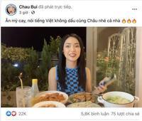 Phía Châu Bùi lên tiếng khi hot girl bị ''ném đá'' vì livestream đọc tiếng Việt không dấu với loạt nội dung dễ hiểu thành thô tục