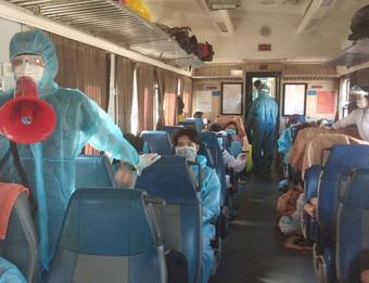Hơn 400 người dân Quảng Trị ở vùng dịch sẽ được đưa về bằng tàu hoả