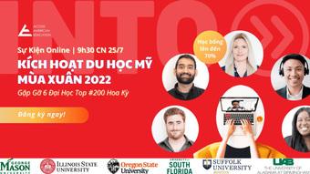 Top 200 đại học quốc gia Mỹ xét tuyển học bổng đến 70%