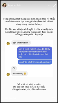 """Sau drama bị gạ làm FWB suốt cả tháng trời, Hà Trúc bỗng thẳng thắn chia sẻ quan điểm về bạn tình """"nếu thích, mình sẽ có"""""""