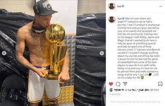 Viết tâm thư xúc động chia tay Los Angeles Lakers nhưng Kyle Kuzma không quên gửi lời cảnh báo đến những ai coi thường anh