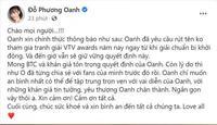 Phương Oanh rút tên không tham gia tranh giải tại VTV Awards 2021