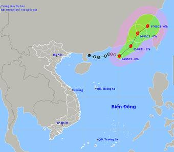 Biển Đông chính thức hứng bão số 4 Lupit