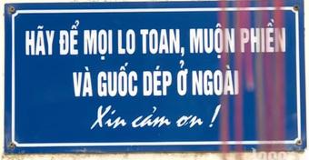 Dòng chữ trên tấm biển ngoài cửa nhà nghệ sĩ Giang Còi được chia sẻ lại, nội dung khiến nhiều người cảm động