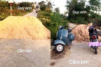 Tranh cãi việc dùng cát để làm rào chắn kiểm soát dịch Covid-19