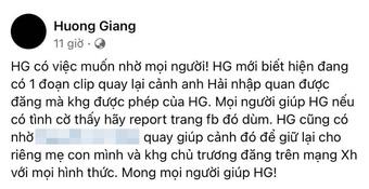 Vợ ca sĩ Phi Hải đau lòng khi lễ động quan của chồng bị quay lén rồi phát tán, khẩn thiết nhờ cộng đồng mạng giúp đỡ