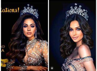 Ảnh Á hậu Kiều Loan bị fan Indo ghép trắng trợn cho Miss Grand Malaysia, fan Việt nổi giận