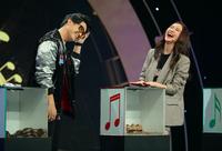 Á hậu Hà Thu khiến khách mời hoang mang khi ''la hét'' trên sóng truyền hình