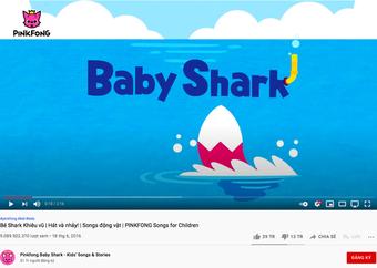 Baby Shark vượt mốc 9 tỷ view, thu về thành tích siêu khủng mà chỉ BTS và BLACKPINK đạt được!