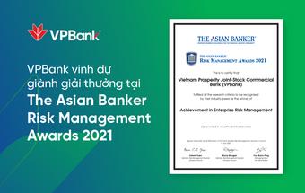 VPBank lần thứ 2 liên tiếp nhận giải thưởng quản trị rủi ro cấp châu lục