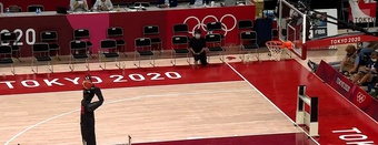 Robot ném bóng rổ gây sốt tại Olympic Tokyo