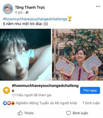 Trào lưu ''howmuchhaveyouchangedchallenge'' thu hút giới trẻ