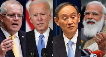"""""""Bộ Tứ kim cương"""" xây bức tường thành tiềm tàng đối phó Trung Quốc"""