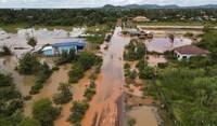 Campuchia: Mưa lớn gây lụt lội, nước sông dâng cao sát mức báo động